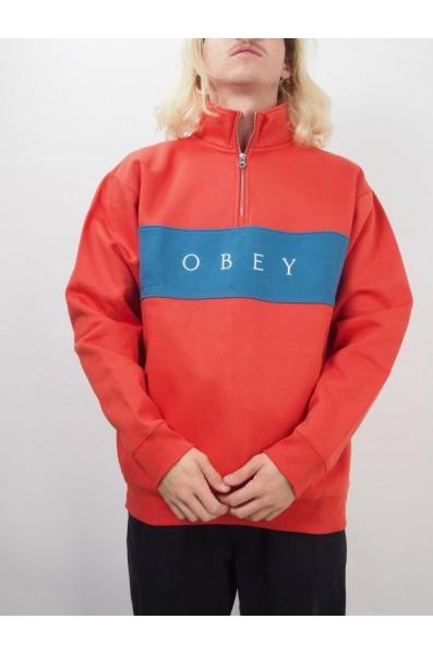 Obey Ian Mock Neck Zip Spec. Fleece