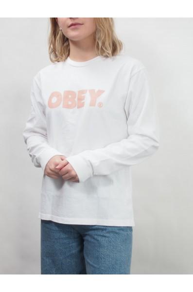 Obey Wmn Bold Custom Box Ls Tee